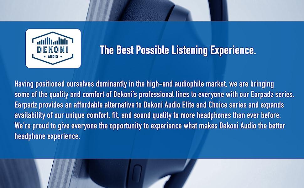 About Dekoni Audio and Earpadz series