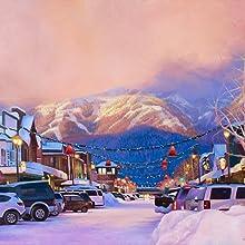 كبير الجبل whitefish مونتانا قماش الطباعة