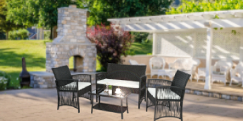 rattan table and chairs garden furniture