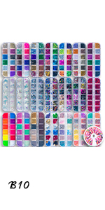 Glitter, Foil Leaf amp; Powder Set of 22-box