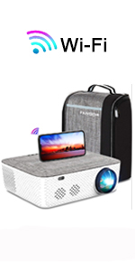 Native 1080p Wifi Projector with bluetooth