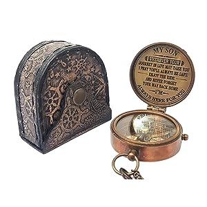 brass compass antique