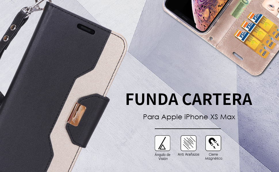 Funda Folio para Apple iPhone XS Max 2018