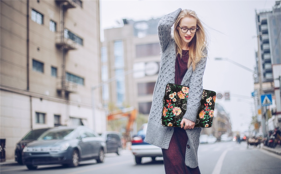 Xxh 15 Inch Laptop Sleeve Computer Bag MacBook Air//pro Sleeve REd Floral Notebook Case