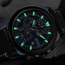 Men' s Watch Military Automatic Quartz Wrist Watch Luminous Waterproof Analogue Chronograph Watch