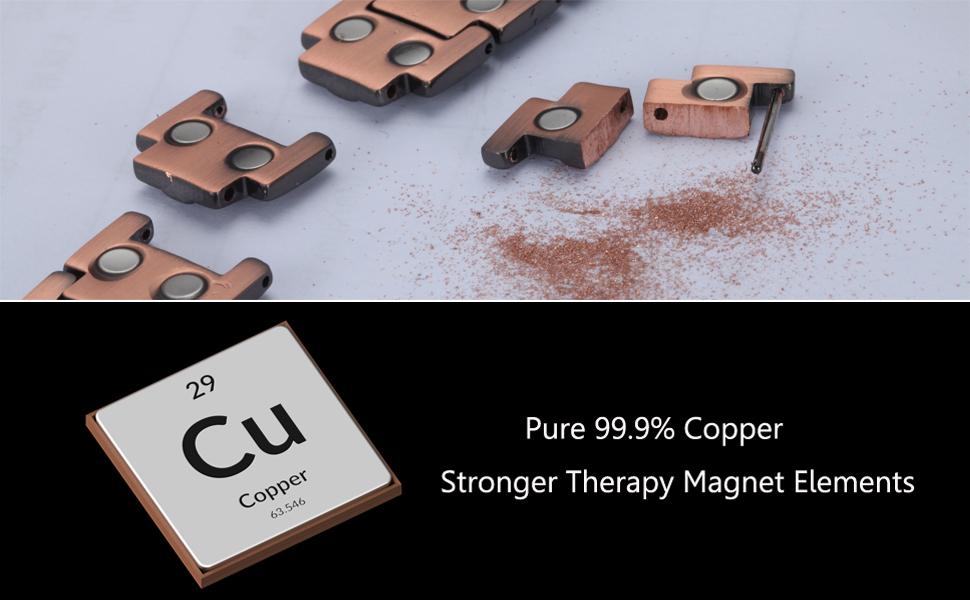 pure copper magnetic bracelet pain relief