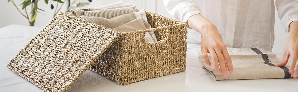 Seagrass Basket for Bathroom