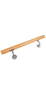 Anzahl Streben:5 V2Aox Treppengel/änder Edelstahl Handlauf Gel/änder Balkongel/änder Aufmontage Treppe L/änge:180 cm