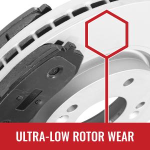 Ultra-low rotor wear.