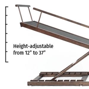height adjustable dog ramp