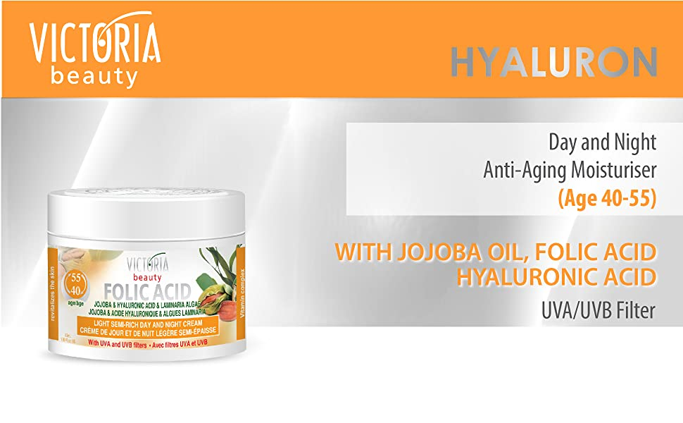 hyaluronic acid anti aging face cream against wrinkles and fine lines