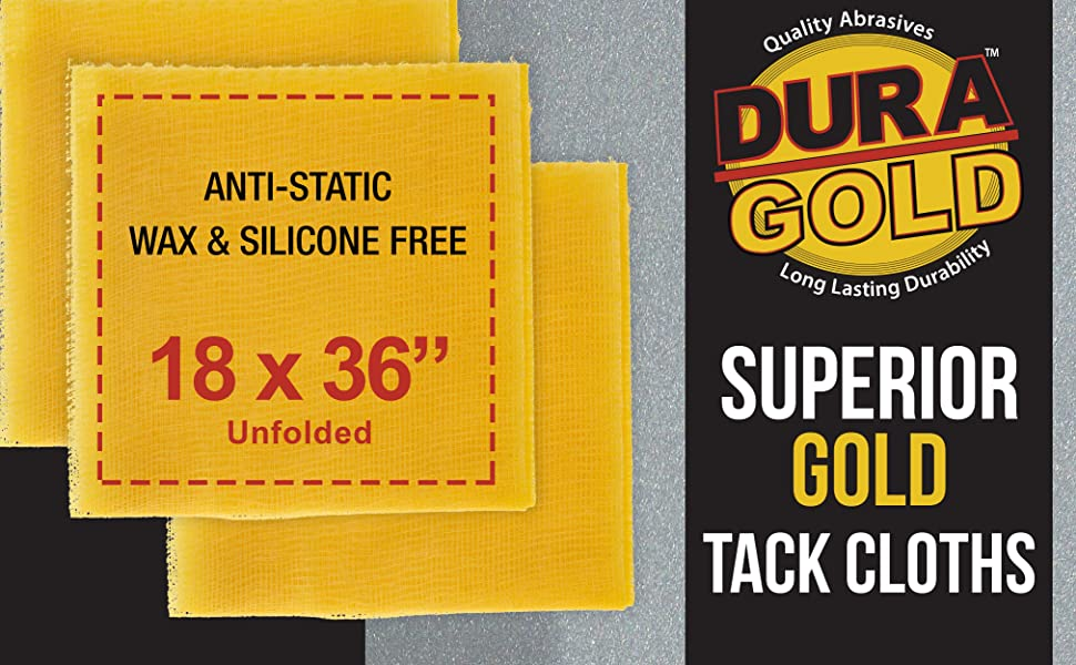 Superior Gold Tack Cloths for Woodworking Automotive and Cleaning Surfaces