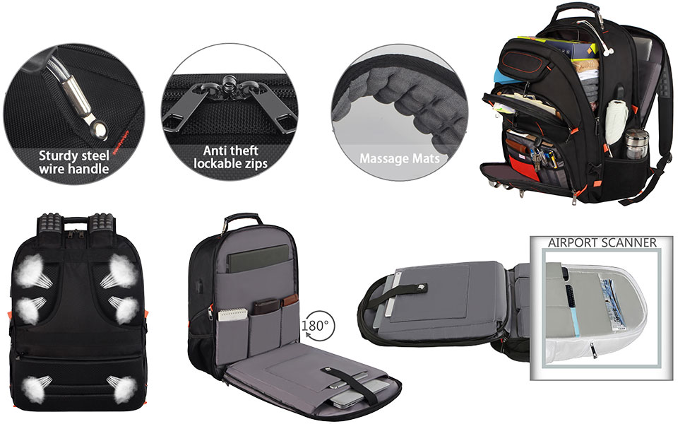 Ideal Book bag backpack for high school Boys perfectly t Checkpoint, unfolds the extra large backpac