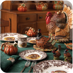 dishes thanksgiving dinner table setting