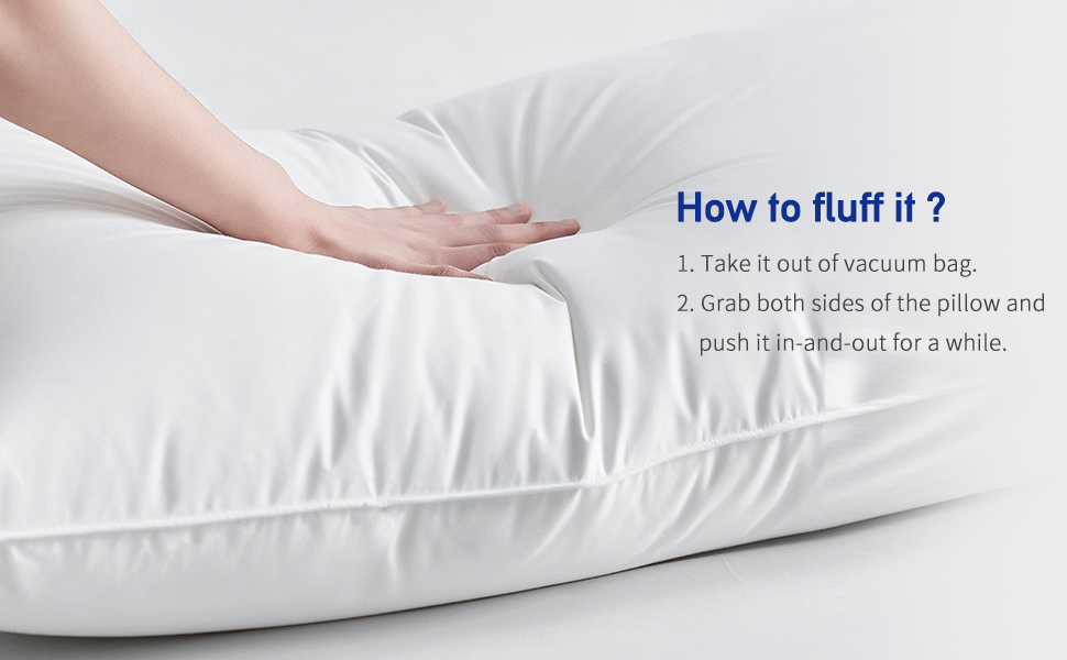 How to fluff down pillow