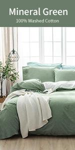 Boho Bedding Duvet Cover Fringed 3 Pcs 100% Washed Cotton Vintage and Elegant Ruffle Duvet Covers