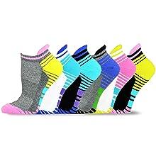 Athletic sports socks for women