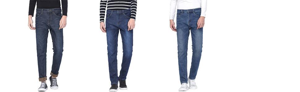 fleece lined jeans for men
