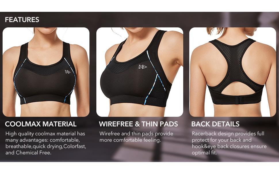 sports bra high impact
