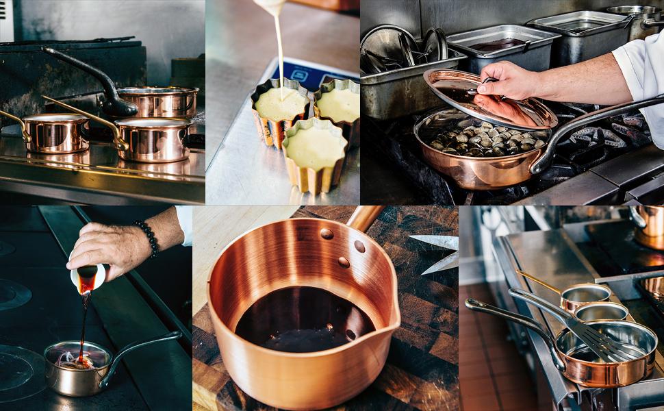 copper, copper cookware, french cookware, cannele, saucier, braiser