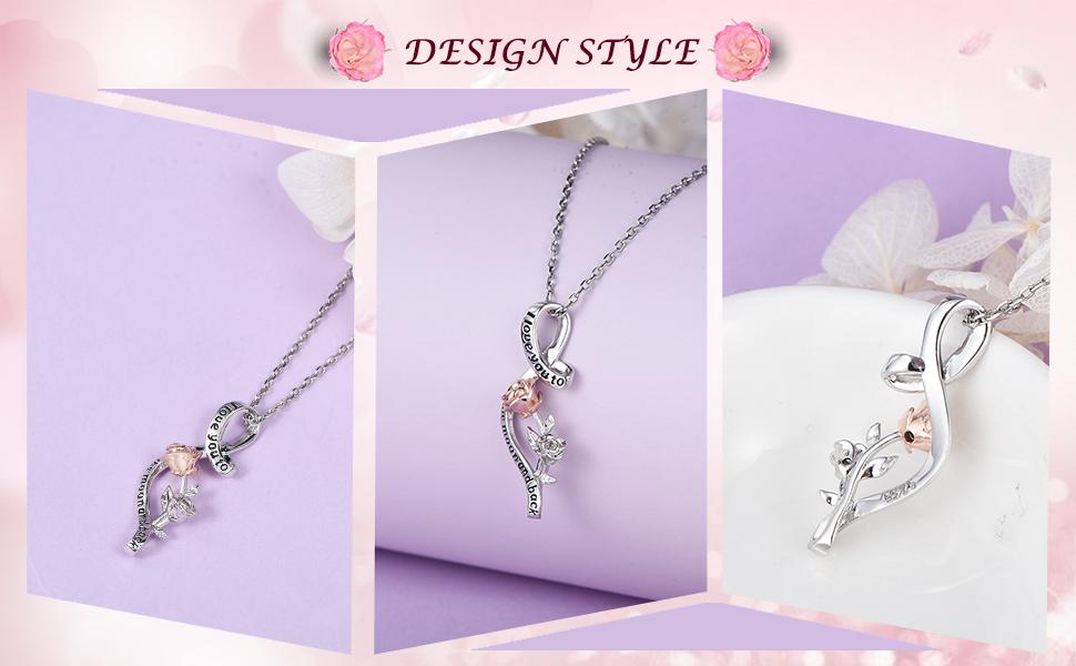 valentine jewelry necklace for girlfriend wife gift anniversary jewelry