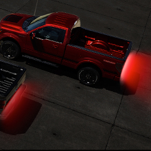 MAKE THEM SEE YOU! The sleek REDLINE tailgate light bar adds style and safety