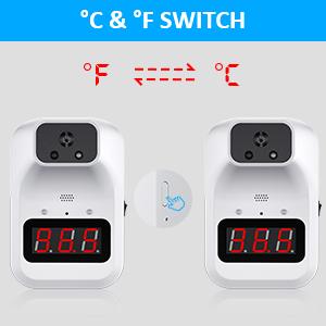 C°/F° switch