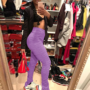 purple Leggings Trousers