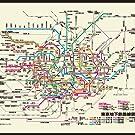 路線図, 地下鉄, JR,