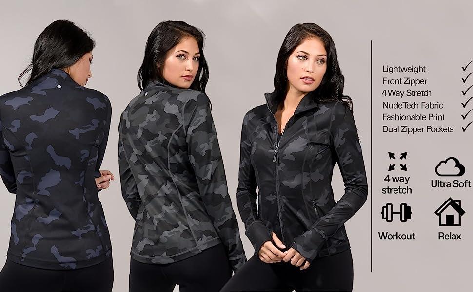 womens full zip jacket