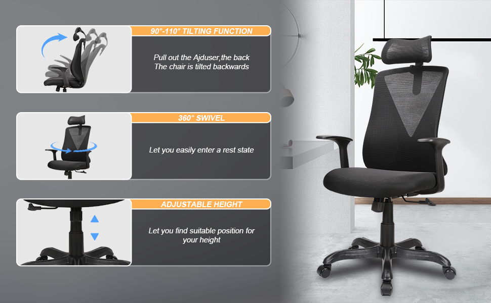 The office chair function display
