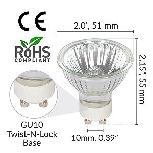 simba lighting halogen gu10 mr16 twistline twist n lock light bulb dimensions