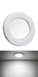 down light with chrome shell