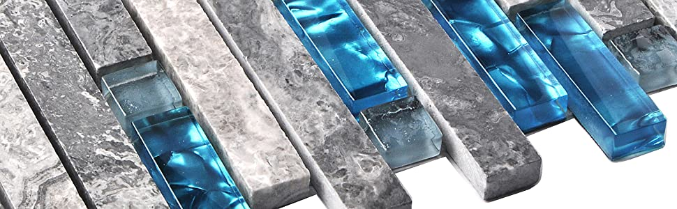 glass marble tile blue gray colors