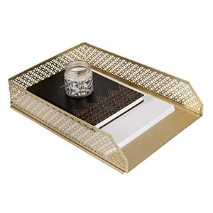 gold paper tray