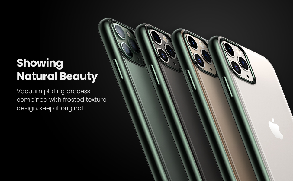 UGREEN Clear Case Compatible for iPhone 11 Pro Max(2019), Slim Shockproof Bumper Case with Soft TPU