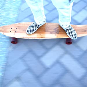 Magneto longboard skateboard long board bamboo kick tail deck cruiser free style carving beginners
