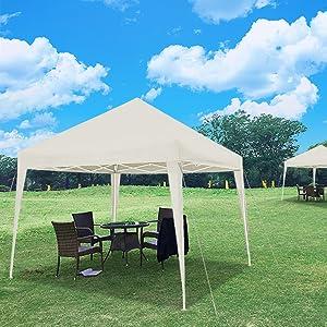 VOUNOT Cenador de jardín 3x3m Plegable | Carpa de jardín Plegable rápida para Instalar | Toldo Plegable para Camping, Festival, Playa, Jardines | Incluye Bolsa de Transporte: Amazon.es: Jardín