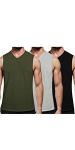 COOFANDY Men's 3 Pack Workout Tank Top