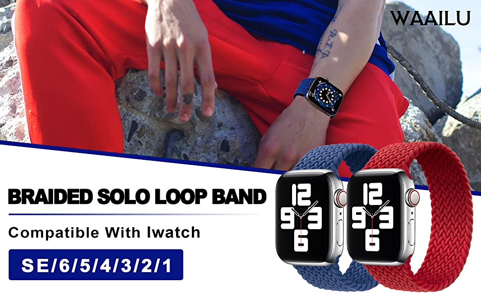 Braided solo loop band