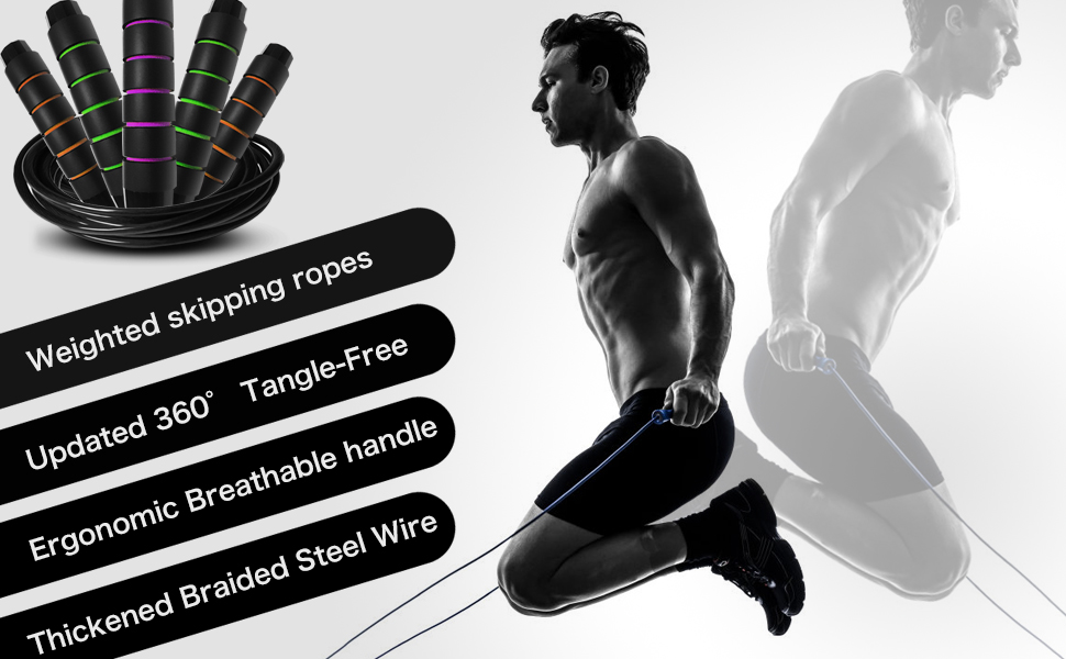 Exercise Jump Rope for Fitness-It's easy and efficient, and it helps to strengthen your body