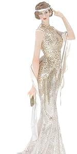 Golden Silver Dress Lady