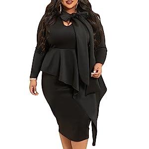 plus size funeral dress