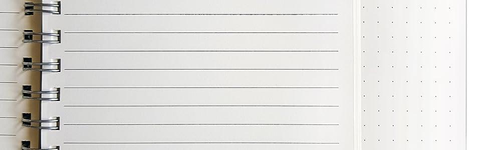 cute notebook spiral bound, pink spiral notebook with pen, perforated spiral notebook, spiral grid