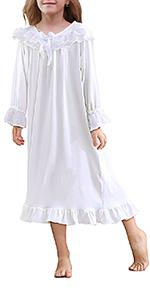 Girls White Nightgowns