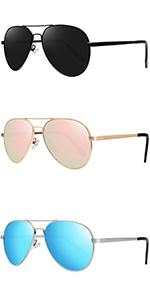 Kids Polarized Sunglasses for Boys Girls Aviator Sunglasses with Mirrored Lens