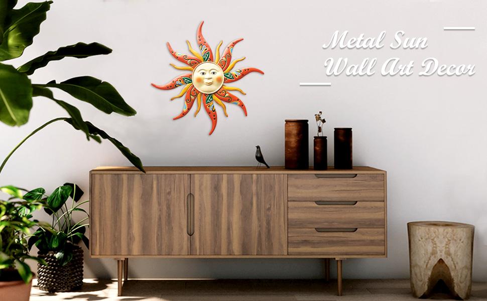 Metal Sun Wall Art Decor