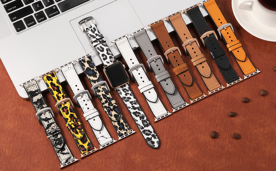 There are various stylish colors bands with different color adapter and buckle