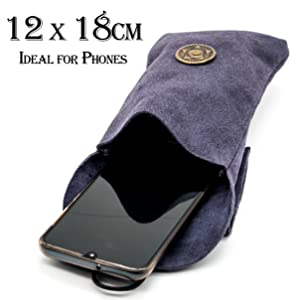 perfect size for adventure bag  leather purse pouch genuine horn viking medieval game of thrones WOW