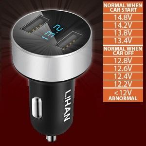 LED Display Vehicle Voltmeter